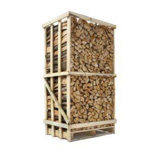brændetårn med lufttørret blandet løvtræ